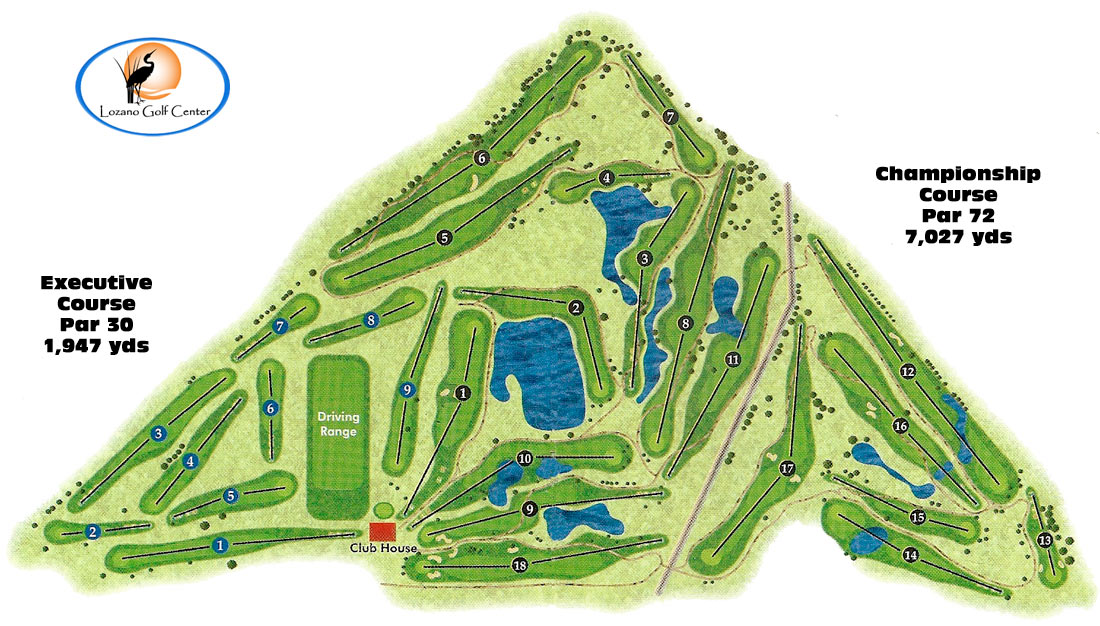 Lozano Golf Center | Public Championship Course | Corpus ... on golf course layout maps, golf green maps, golf courses map of us, golf yardage book,